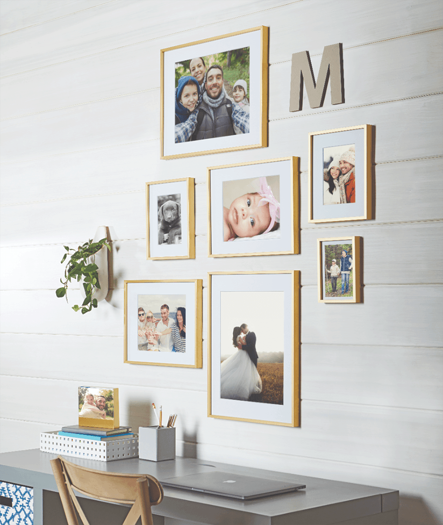 gold gallery wall frames from walmart