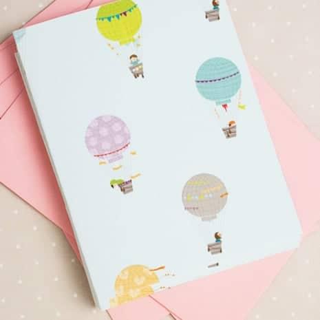 FREEBIE  //  HOT AIR BALLOON CARD