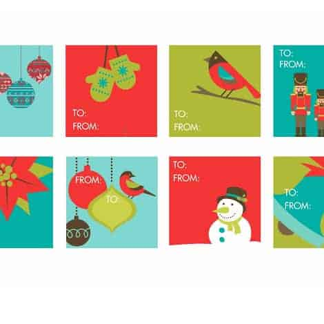 FREEBIES // HOLIDAY GIFT TAGS - Oh So Lovely Blog