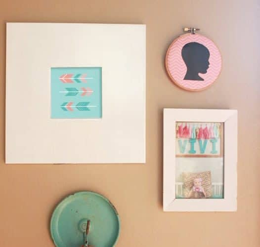 DIY  //  UPCYCLE MARCH: TURN BASEMENT JUNK INTO WALL ART