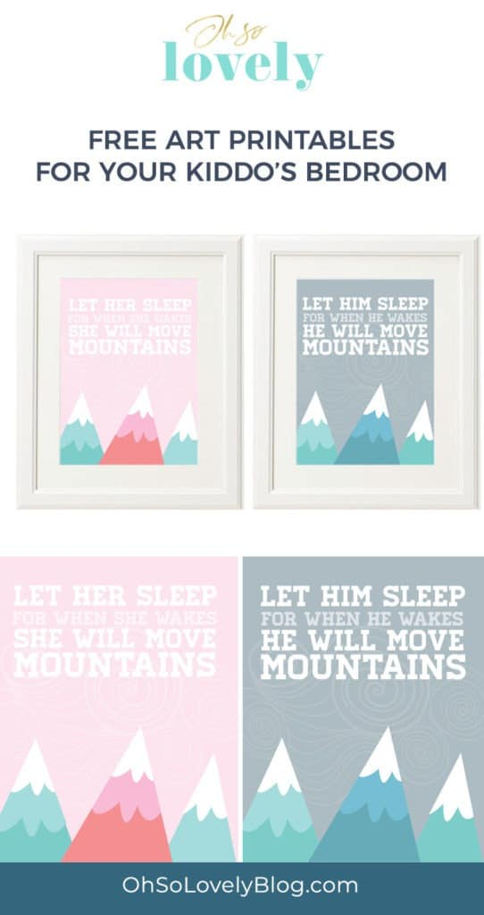 Looking for some free nursery or kid's room printables? I have two cute options that are perfect for a girl or boy's bedroom!