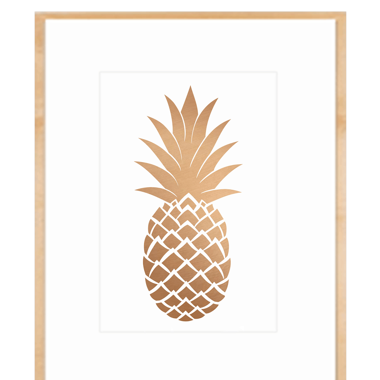 This is an image of Massif Pineapple Stencil Printable