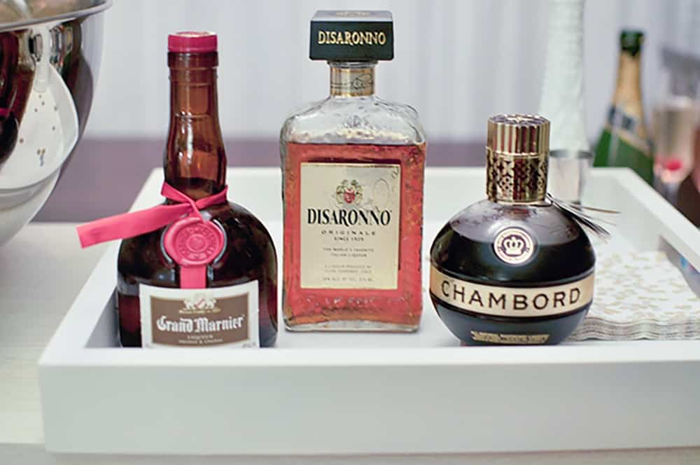 raspberry, orange, or almond liqueur