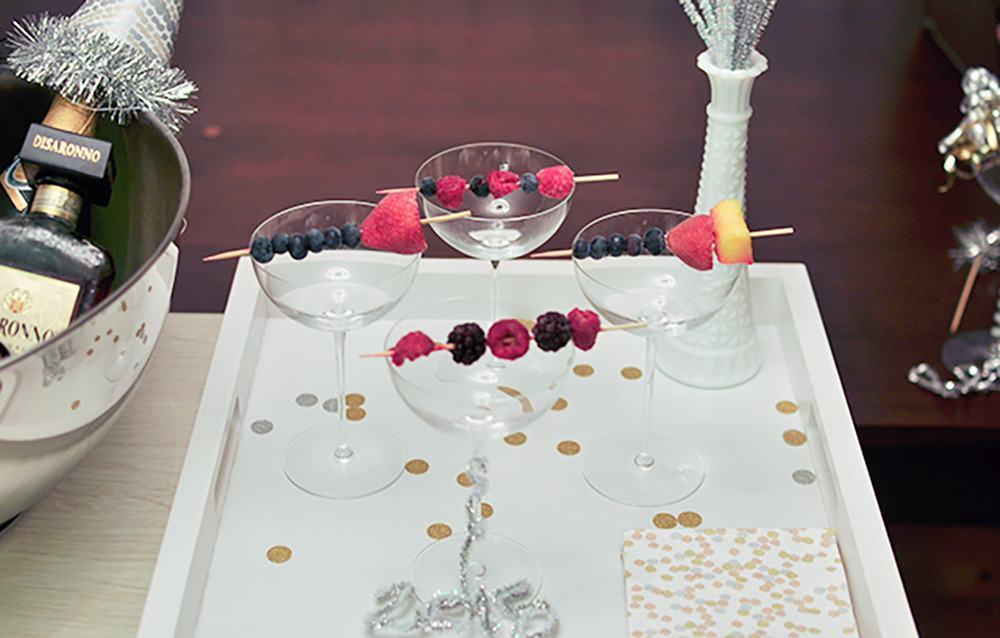 fruit skewer NYE cocktail