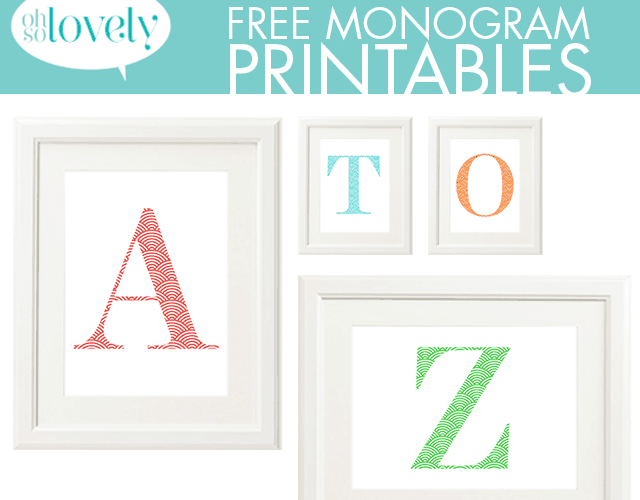 FREEBIES  //  COLORFUL SCALLOP MONOGRAMS