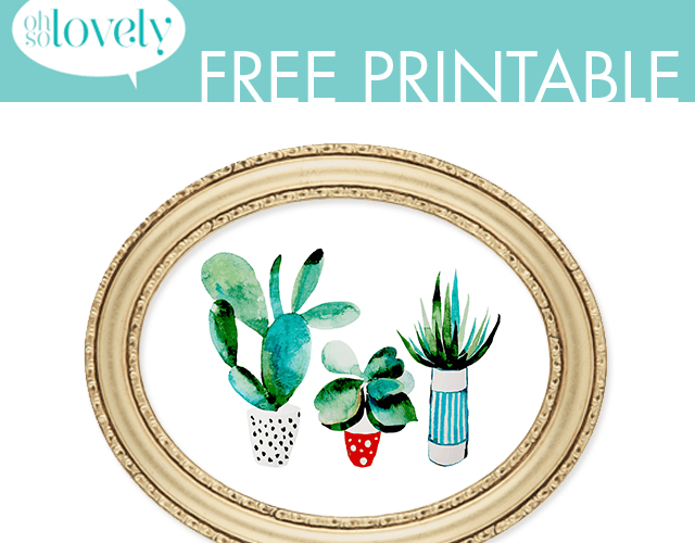 FREEBIE  //  SIMPLE SUCCULENT PRINTABLE
