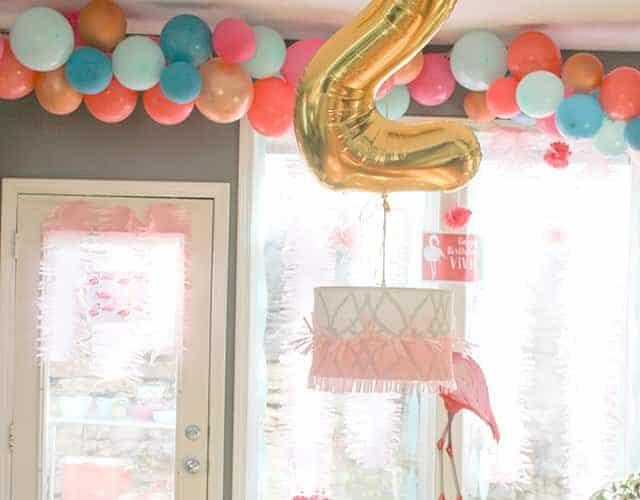 DIY  //  FLAMINGO THEMED BIRTHDAY PARTY