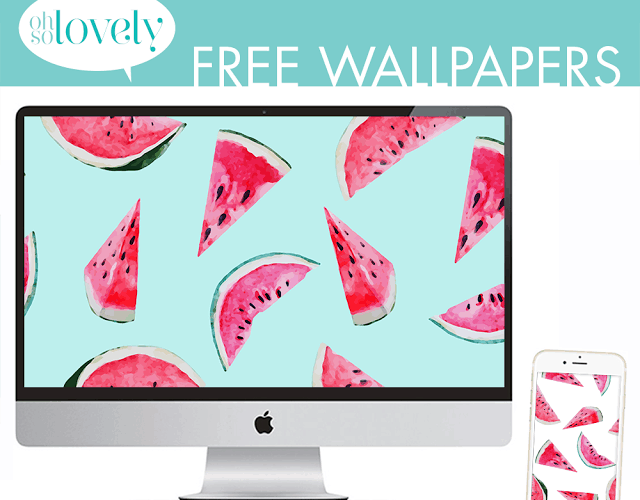 FREEBIES  //  WATERMELON WALLPAPERS