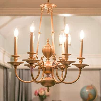 DIY  //  DINING ROOM CHANDELIER UPDATE