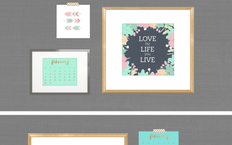 FREEBIES  //  FEBRUARY DESKTOP CALENDARS