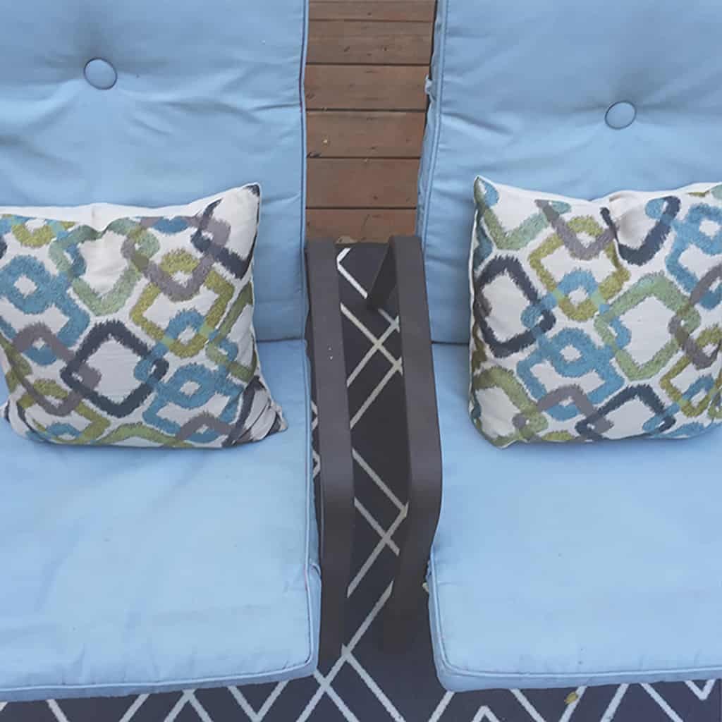 Diy Painted Cushion Tutorial Update Your Outdoor Chairs On A Budget