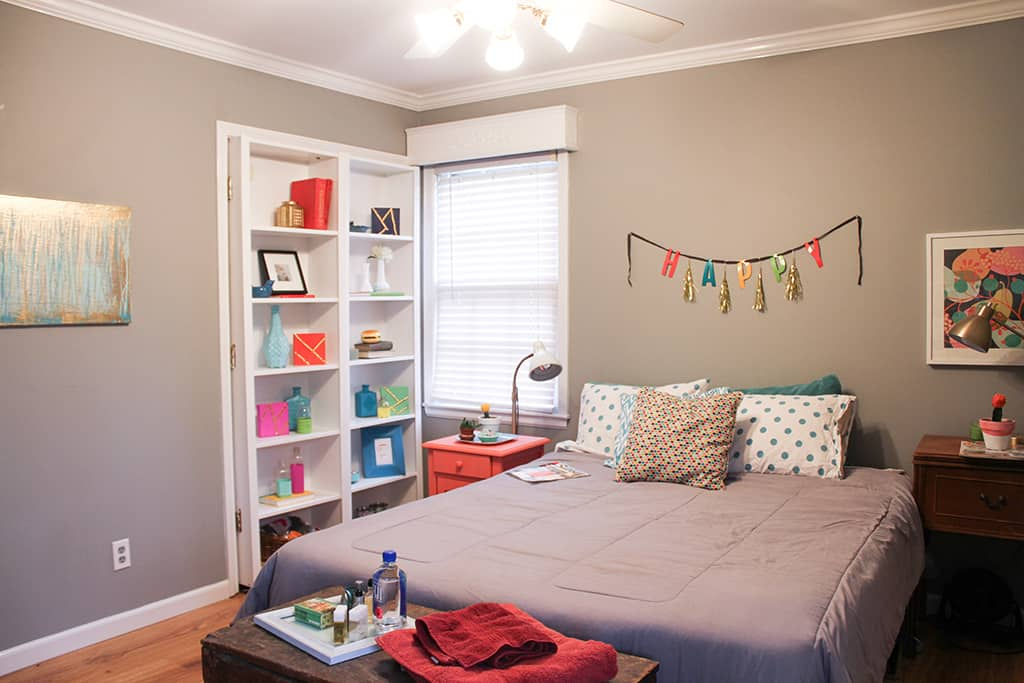 Oh So lovely blog guest room home tour and DIY nightstand update