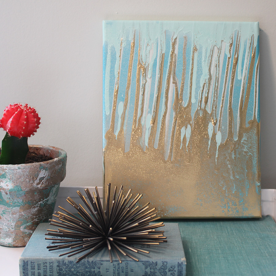 Tutorial on how to create your own DIY paint drip art using spray paint