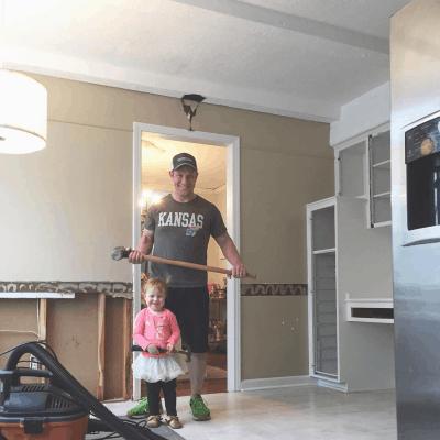 DIY kitchen demo and renovation process - IKEA kitchen