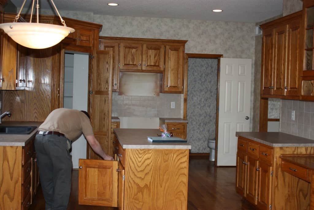 DIY kitchen remodel $500 before photo