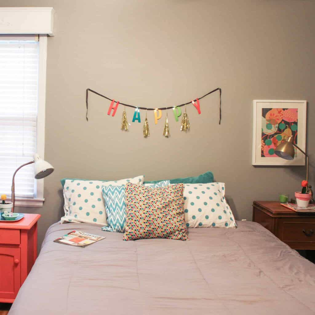 Oh So Lovely Blog guest room home tour and DY night stand update