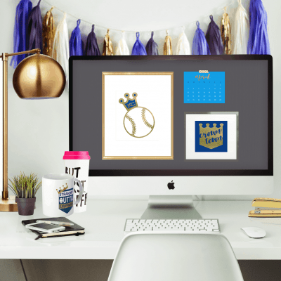 Oh So Lovely Blog shares a free Kansas City Royals desktop wallpaper calendar for the month of April. Baseball opening Day weekend