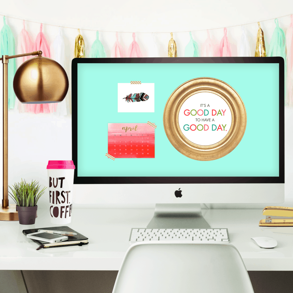 Oh So Lovely Blog Shares 2 Free April Desktop Wallpaper Calendars