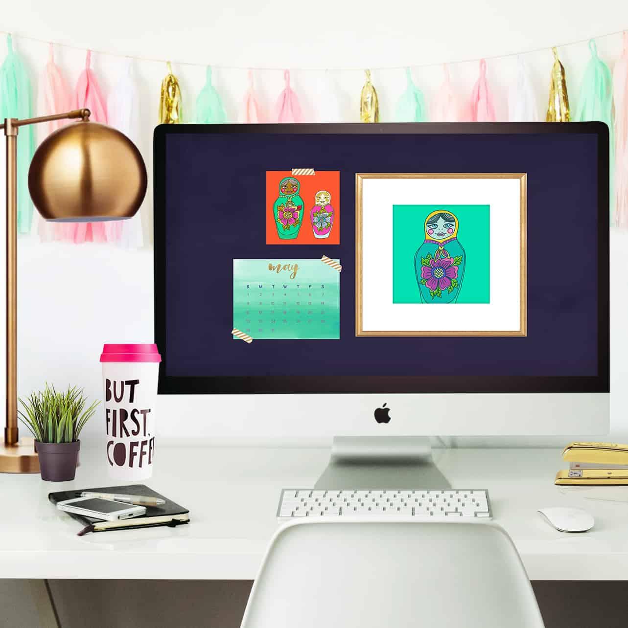 fun, free, and cute may desktop calendar wallpapers