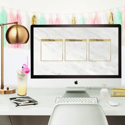 DIY marble desktop organizer