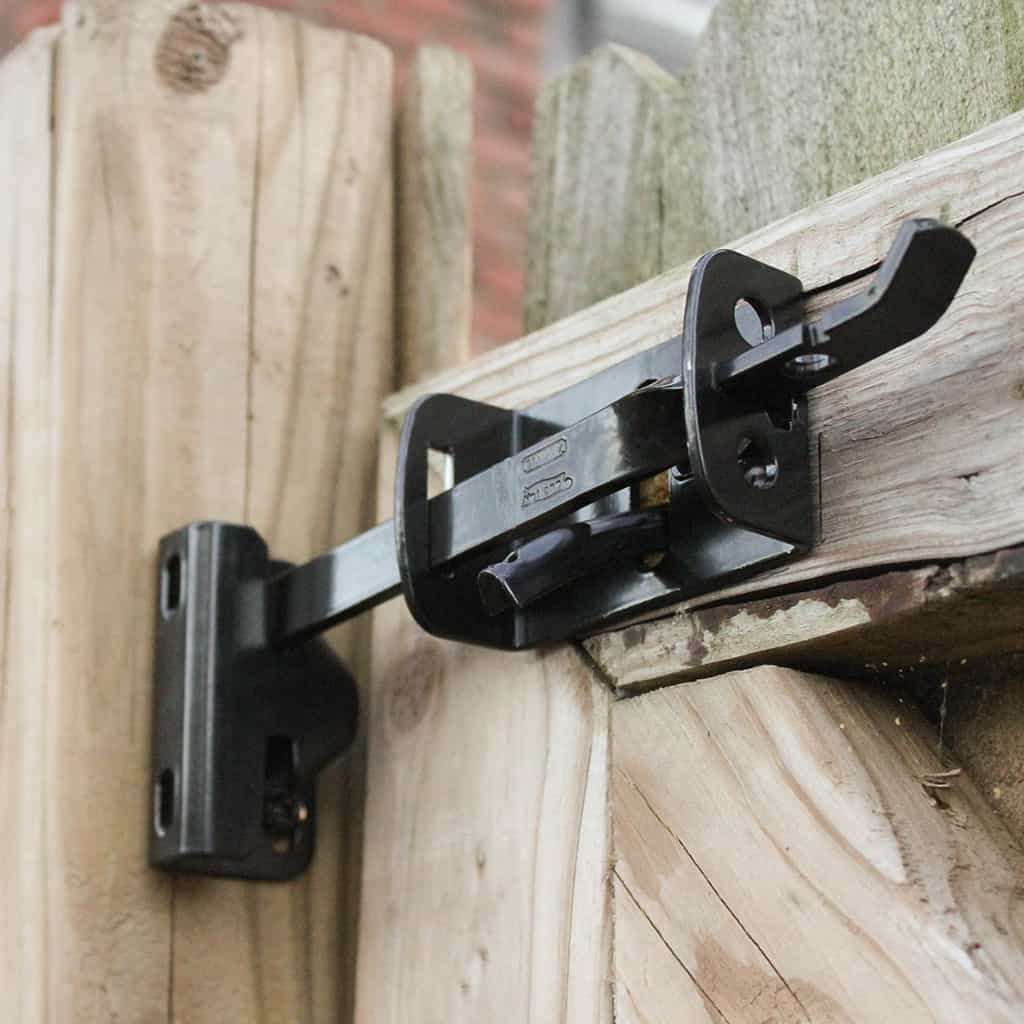 DIY tutorial install National Hardware gate latch + giveaway