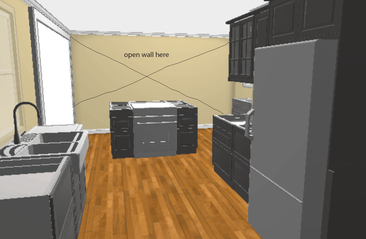 diy ikea kitchen layout