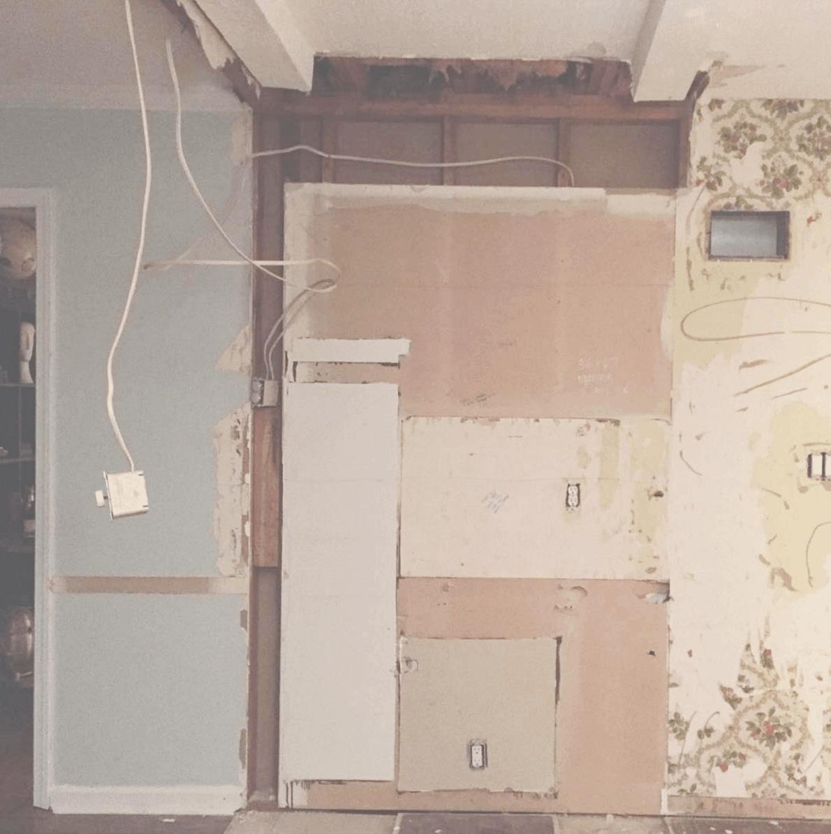 diy ikea kitchen layout before photos load bearing pass through