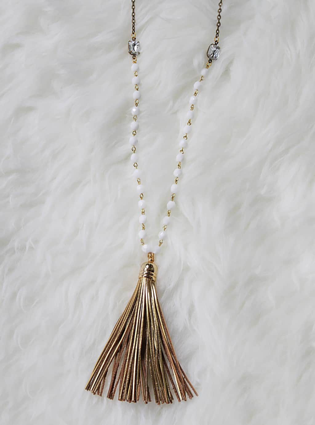 product love wild juniper long tassel necklace