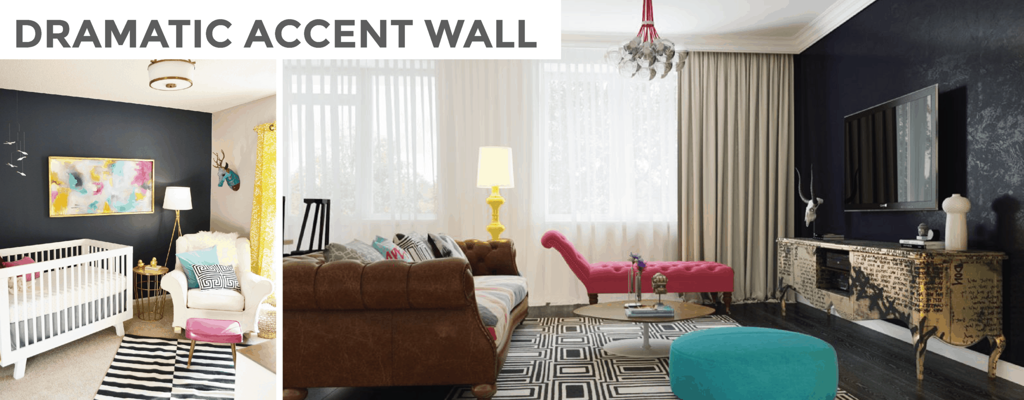 EASY + AFFORDABLE WAYS PAINT CAN MAKE A ROOM POP