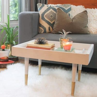 DIY Upcycled Drawer to Coffee Table