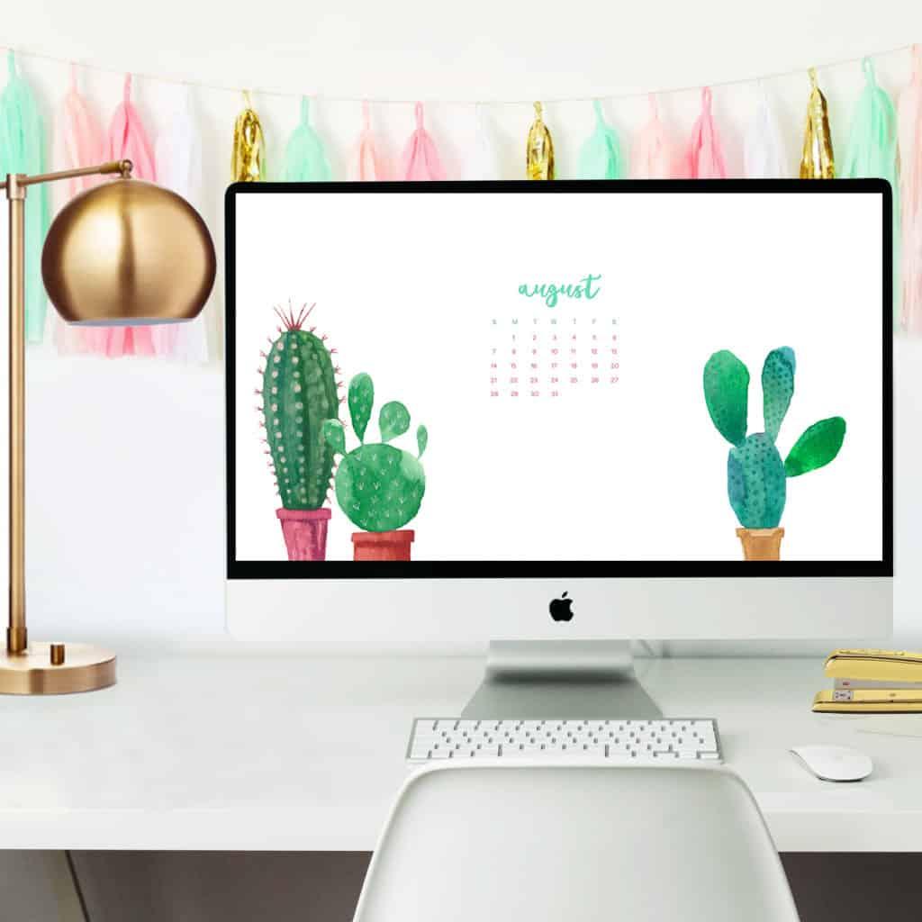 Free August 2016 desktop calendar wallpapers