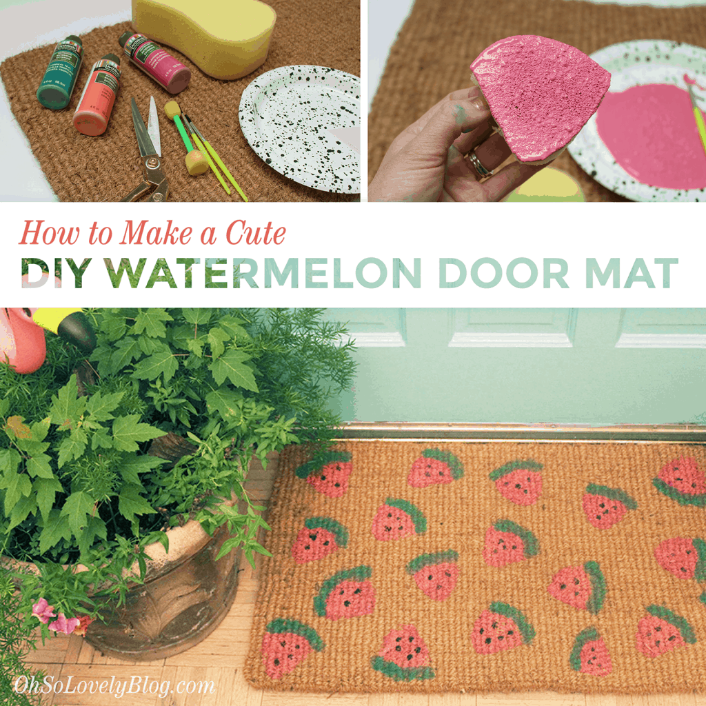 How to make a cute DIY watermelon door mat