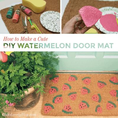 How to make a cute DIY watermelon door mat