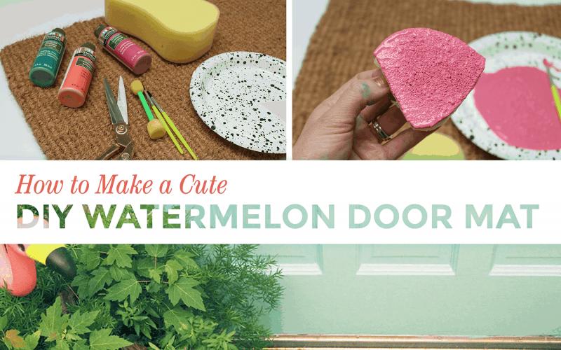 DIY  //  HOW TO MAKE A CUTE WATERMELON DOOR MAT