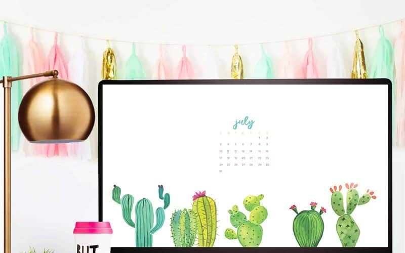 FREEBIES  //  JULY DESKTOP WALLPAPER CALENDARS
