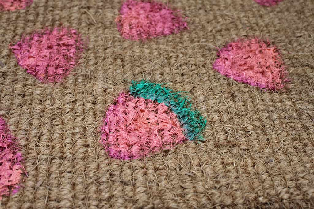 Make cute DIY watermelon door mat