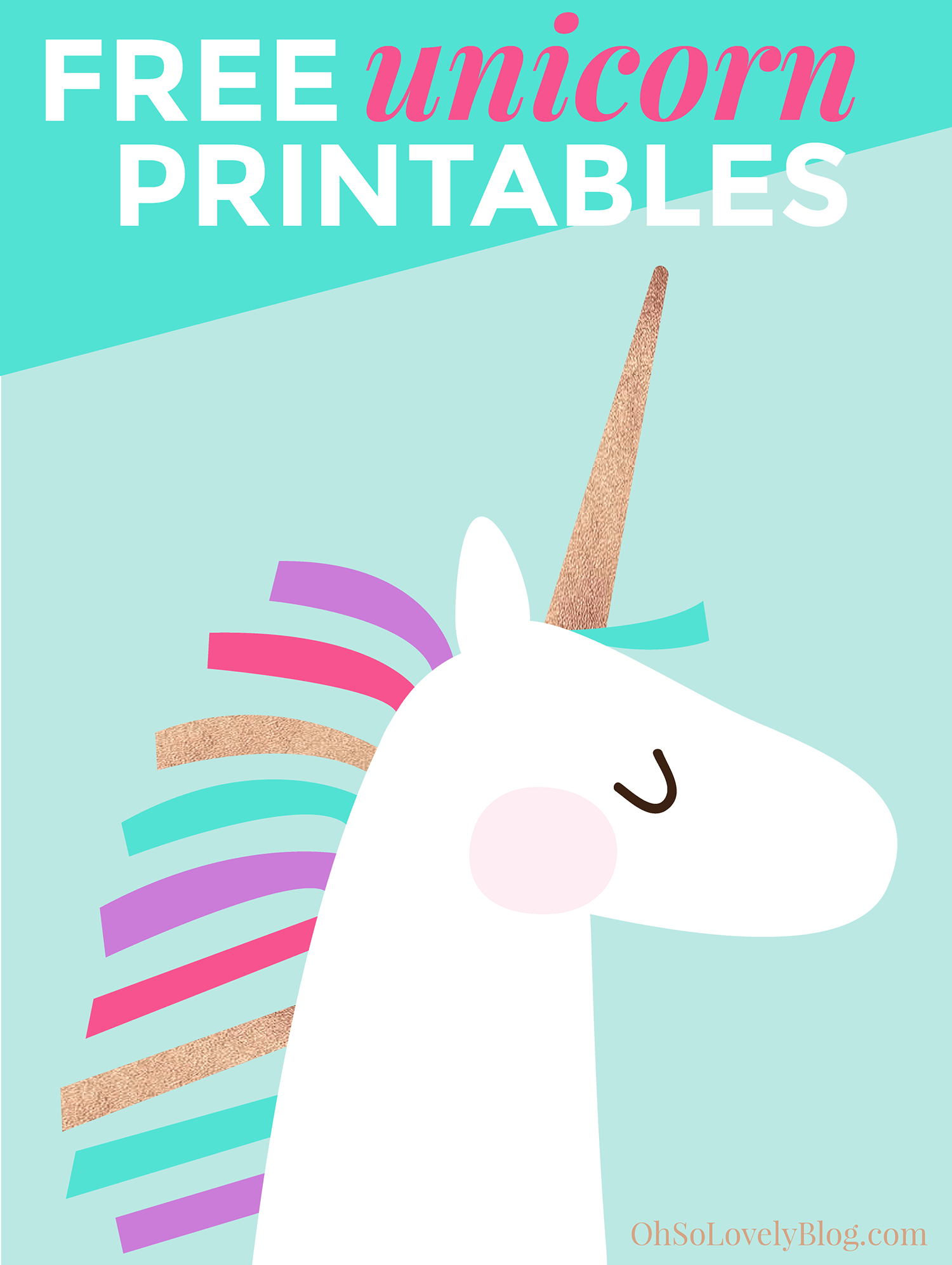 Free and cute unicorn art printables