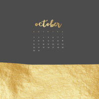 FREE October wallpaper calendars