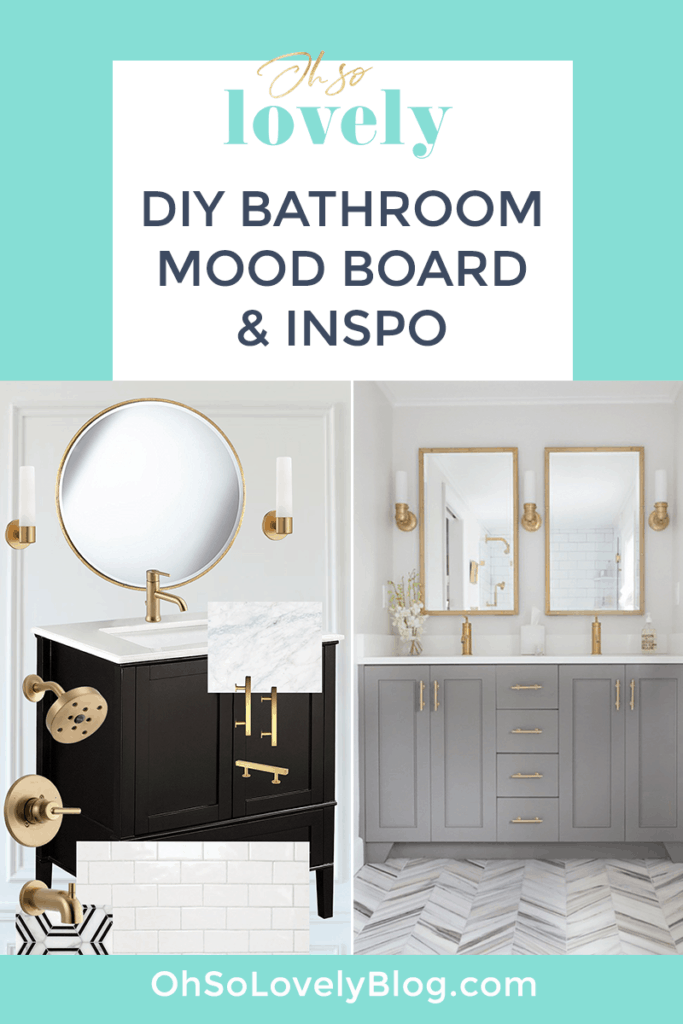 DIY bathroom makeover inspiration on a budget