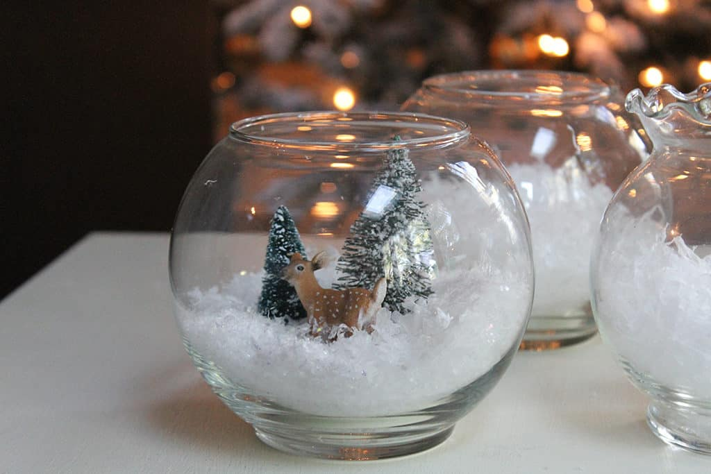 DIY fish bowl snowman