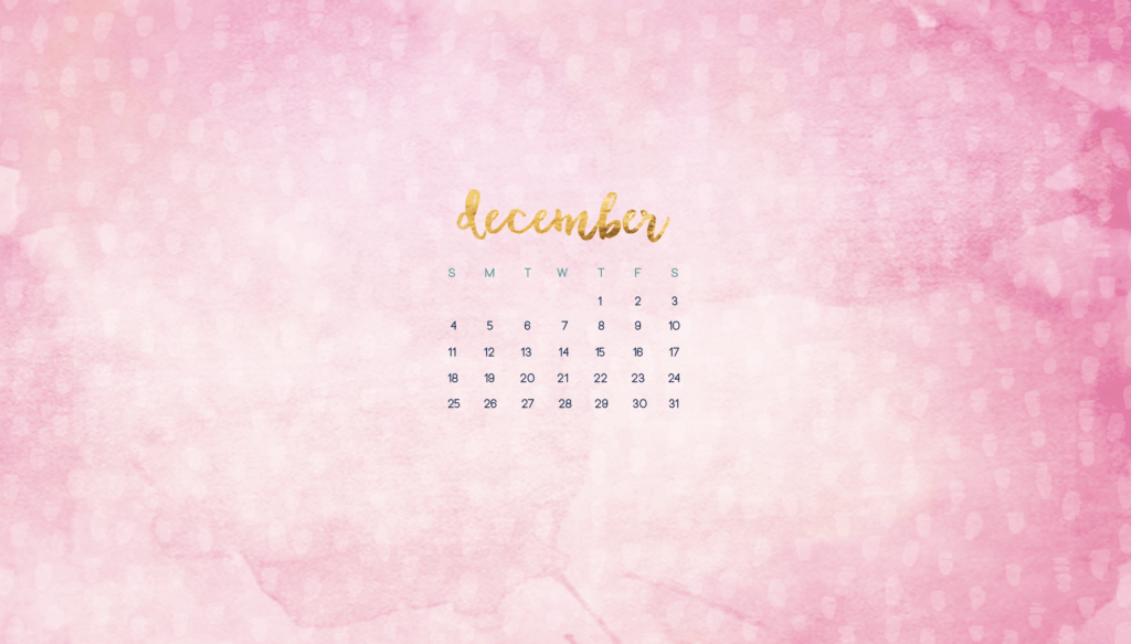 December calendar wallpapers