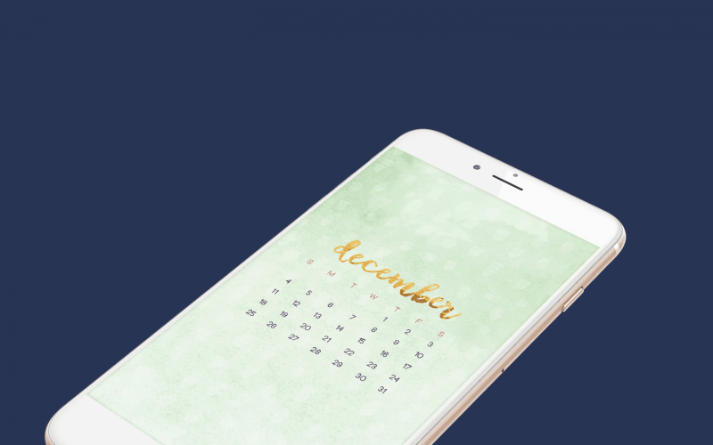 FREEBIES  //  DECEMBER CALENDAR WALLPAPERS