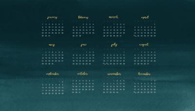 Free 2017 desktop wallpaper calendars