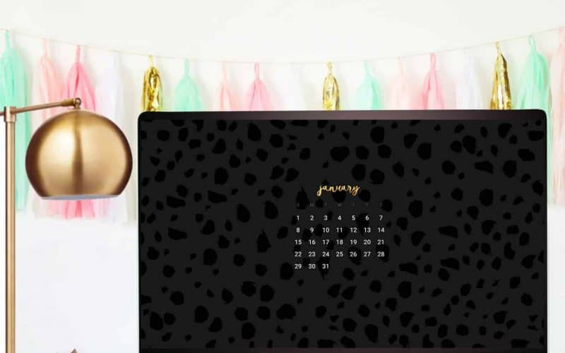 FREEBIES  //  JANUARY CALENDAR WALLPAPERS