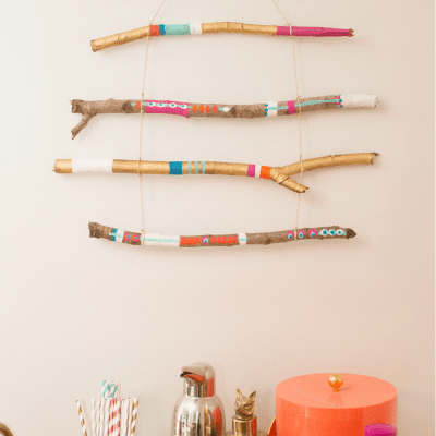 DIY Stick Wall Hanging Tutorial