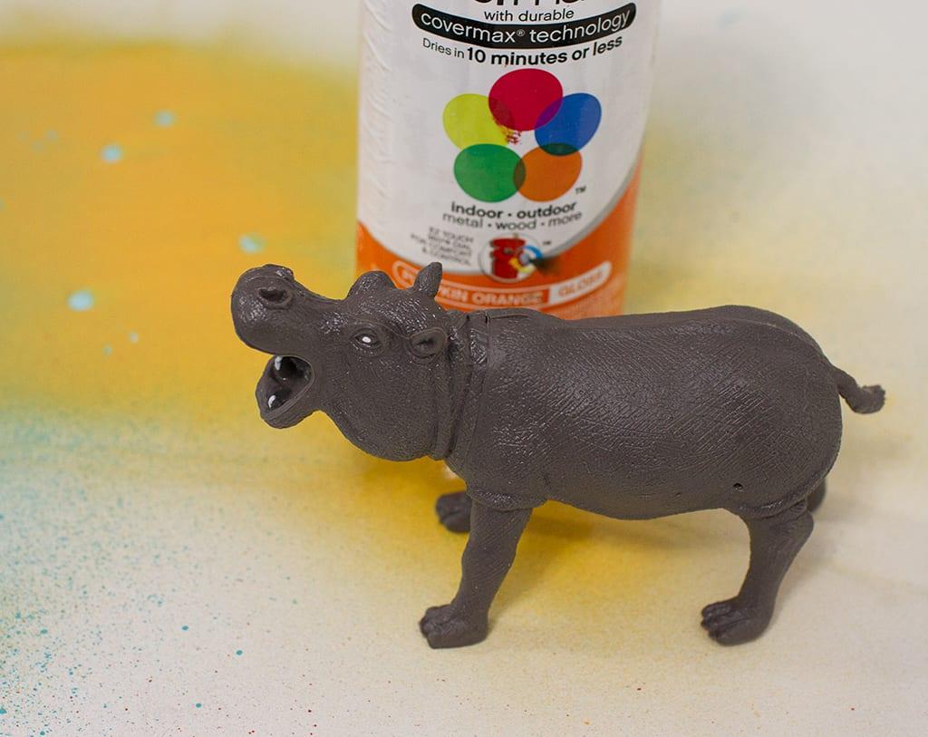 DIY toy animal planter tutorial