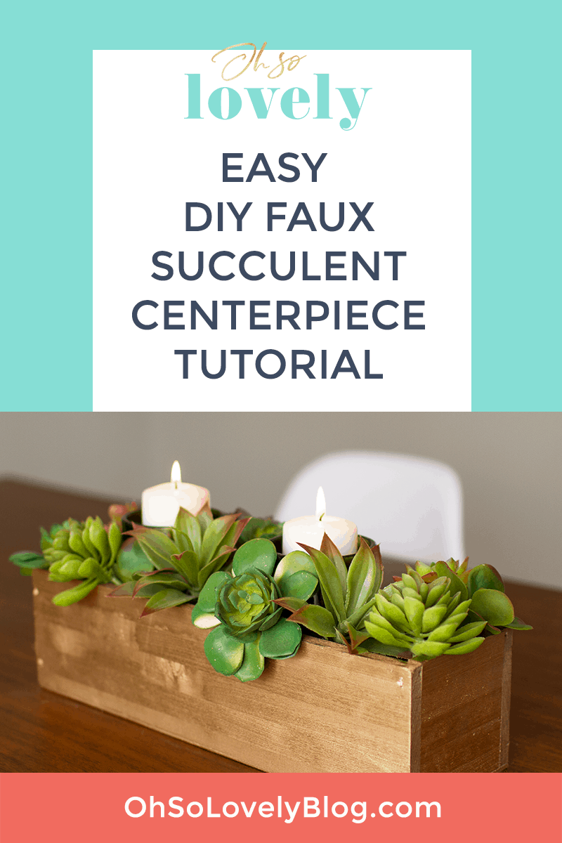 DIY succulent centerpiece tutorial