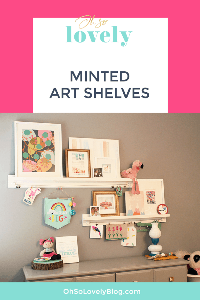 Bedroom Room Progress + Minted Art Shelves