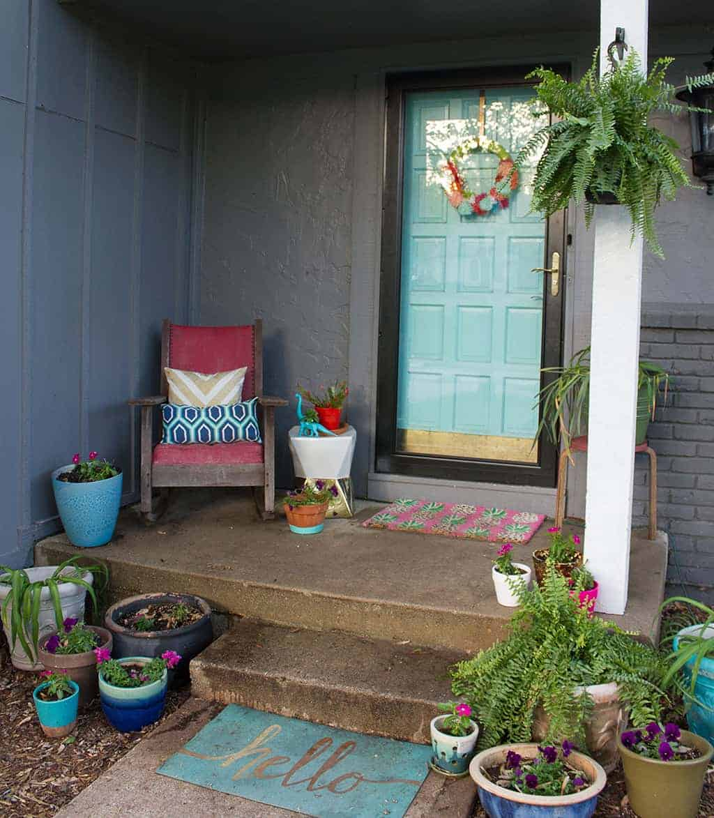 1173 #49632E Spring Front Porch Makeover With Larson Doors A Before And After pic Oh Doors 36611024