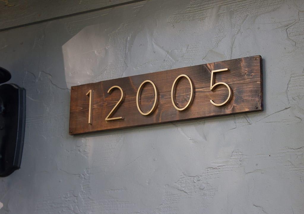 DIY modern house numbers